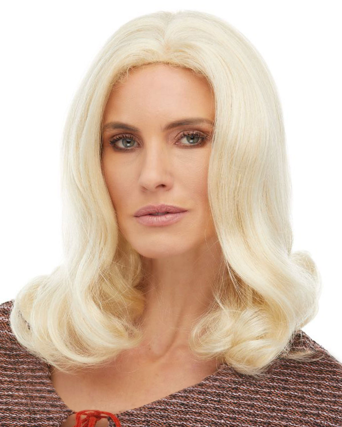 realistic wigs middle part wig cap