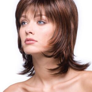 Women's Blonde Straight Synthetic Wig Basic Cap Layered By Rooted