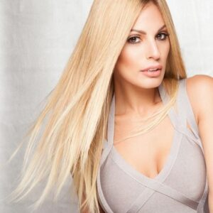Women's Blonde Remy Human Hair Lace Front Wig Hand Tied By Rooted