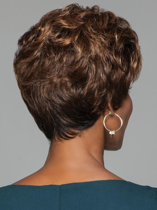 Women's Short Gray Curly Synthetic Wig Basic Cap