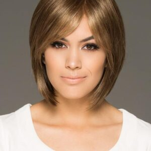 Women's Mid-length Straight Synthetic Wig Mono Top