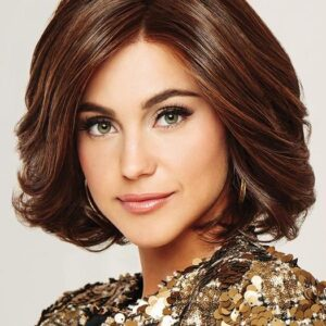 Women's Short Curly Hf Synthetic Lace Front Wig Mono Part Layered