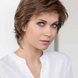 Women's Short Synthetic Lace Front Wig Hand-tied By Rooted