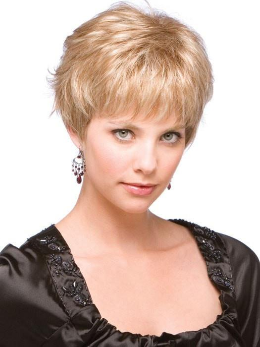Women's Blonde Straight Synthetic Wig Mono Top