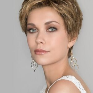 Women's Gray Synthetic Lace Front Wig Hand-tied By Rooted