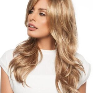 Amber Large | Women's Lace Front Monofilament Synthetic Blonde Rooted Wavy Red Wigs - wigglytuff.net