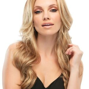 Amber | Women's Lace Front Monofilament Synthetic Blonde Rooted Wavy Red Wigs - wigglytuff.net