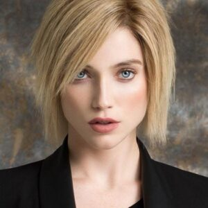 Women's Blonde Straight Remy Human Hair Lace Front Wig Hand-tied