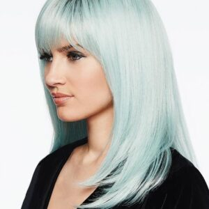 Women's Colored Mid-Length HF Synthetic Colored Wig Basic Cap