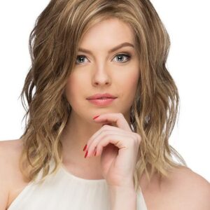 Ocean | Women's Straight Red Mid-Length Wavy Blonde New Arrivals Rooted Wigs - wigglytuff.net