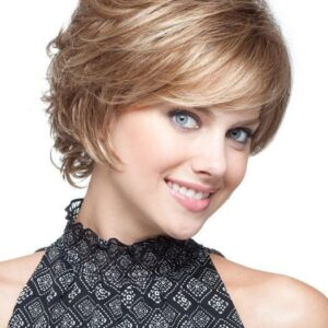 Women's Short Straight Synthetic Wig Basic Cap By Rooted