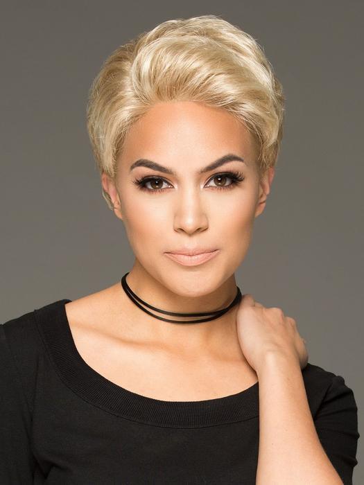 Acclaim Luxury | Women's Brunette Pixie Gray Short Red Wigs - wigglytuff.net