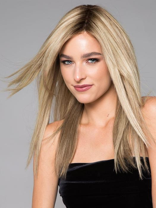 Angie Exclusive | Women's Blonde Brunette Human Hair Monofilament Red Long Wigs - wigglytuff.net