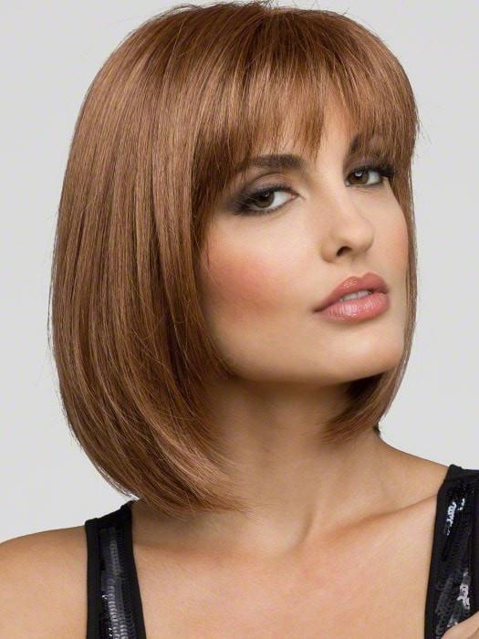 Carley | Gray Straight Red Bob Synthetic Blonde Black Rooted Wigs - wigglytuff.net