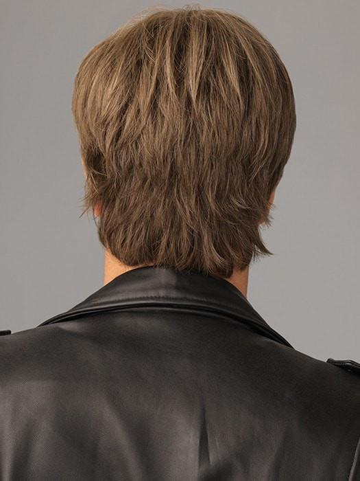 Edge | Gray Straight Short Men's Wigs - wigglytuff.net