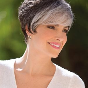 Eva | Gray Rooted Short Wigs - wigglytuff.net