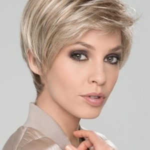 Ever Mono | Blonde Rooted Women's Short Lace Front Red Synthetic Wigs - wigglytuff.net