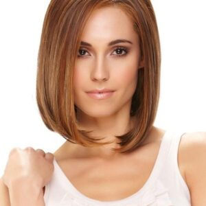 Haute   Women's Bob Lace Front Brunette Rooted Straight Short Red Wigs - wigglytuff.net