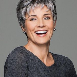 Incentive | Gray Straight Short Pixie Layered Brunette Blonde Wigs - wigglytuff.net