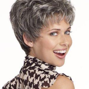 Incentive | Gray Straight Short Pixie Layered Brunette Blonde Wigs - wigglytuff.net