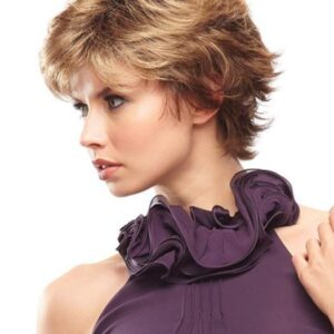 Jazz Mono | Women's Monofilament Synthetic Blonde Gray Short Red Wigs - wigglytuff.net