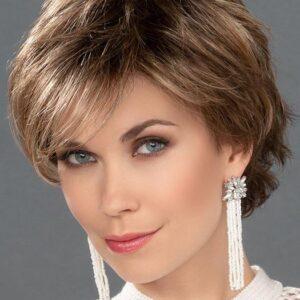 Joy | Women's Brunette Straight Monofilament Blonde Wigs - wigglytuff.net