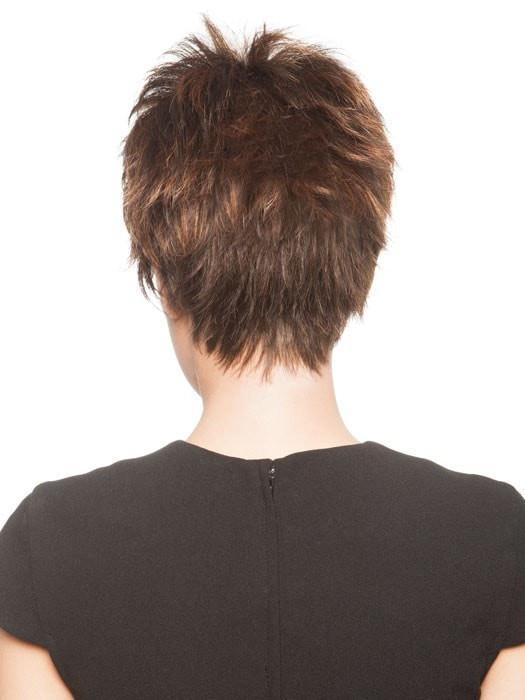 Lizzy | Blonde Rooted Women's Short Brunette Synthetic Wigs - wigglytuff.net