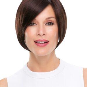 Posh | Women's Monofilament Synthetic Black Gray Short Red Wigs - wigglytuff.net