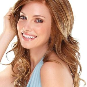 Spicy | Women's Lace Front Monofilament Synthetic Blonde Wavy Red Wigs - wigglytuff.net