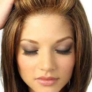 Star Quality | Blonde Synthetic Mid-Length Lace Front Rooted Brunette Layered Wigs - wigglytuff.net