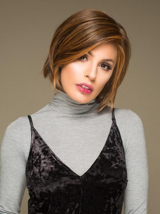 Straight Up With a Twist   Blonde Short Monofilament Women's Straight Brunette Synthetic Wigs - wigglytuff.net