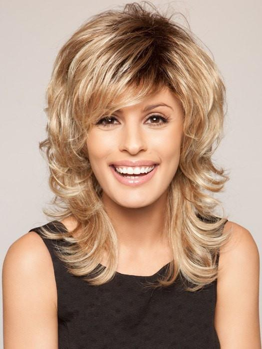 Tress | Blonde Mid-Length Rooted Layered Black Wigs - wigglytuff.net