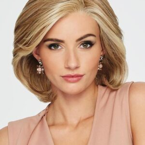 Upstage Large | Blonde Monofilament Women's Rooted Bob Synthetic Wigs - wigglytuff.net
