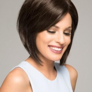 Victoria | Women's Bob Lace Front Monofilament Brunette Blonde Rooted Straight Wigs - wigglytuff.net