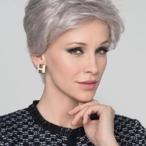 Cara 100 Deluxe | Black Rooted Straight Gray New Arrivals Brunette Blonde Wigs - wigglytuff.net