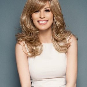 Curve Appeal   Blonde Rooted Women's Wavy Red Black Synthetic Long Wigs - wigglytuff.net