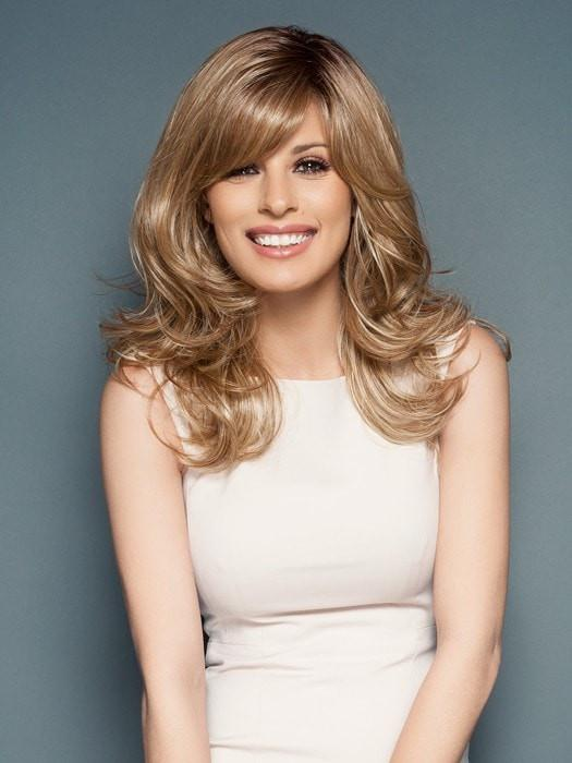 Curve Appeal | Blonde Rooted Women's Wavy Red Black Synthetic Long Wigs - wigglytuff.net