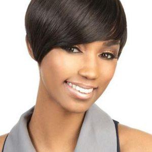 H-VOLTA | Blonde African American Short Human Hair Gray Wigs - wigglytuff.net