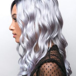 Layla   Black Curly Rooted Colored Gray New Arrivals Wavy Lace Front Wigs - wigglytuff.net