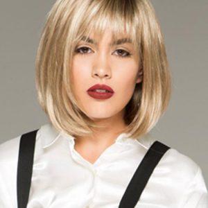 Paige Petite | Blonde Mid-Length Brunette Gray Women's Bob Black Synthetic Wigs - wigglytuff.net