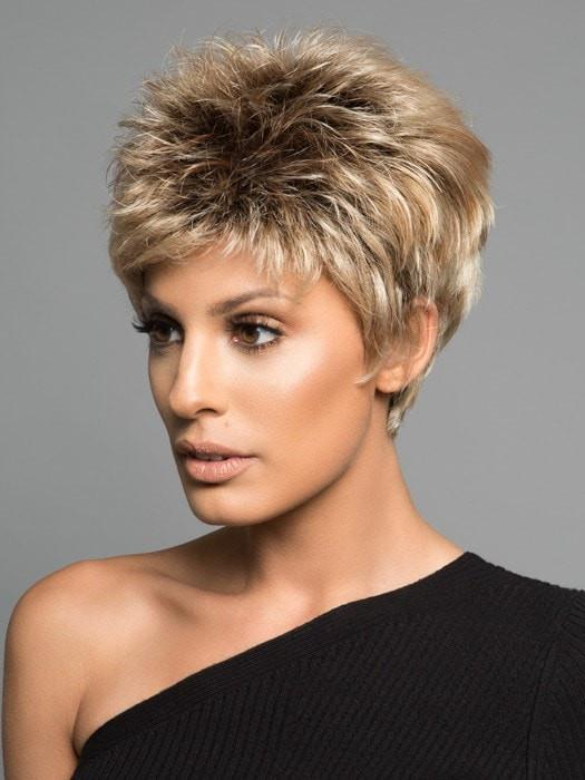 Power   Blonde Rooted Women's Pixie Red Black Synthetic Wigs - wigglytuff.net