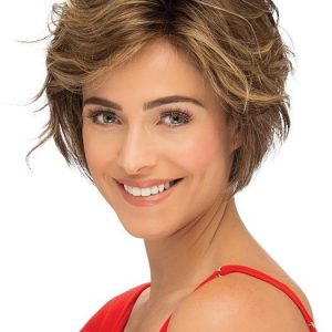 Preston | Black Monofilament Women's Layered Lace Front Blonde Rooted New Arrivals Wigs - wigglytuff.net
