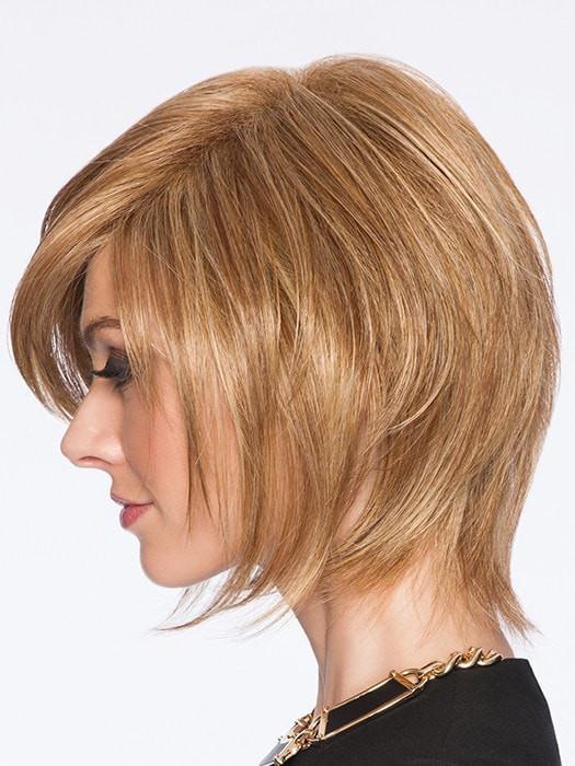 Sleek & Chic | Blonde Synthetic Rooted Gray Women's Black Wigs - wigglytuff.net