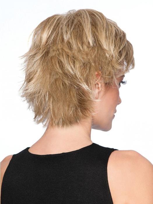 Spiky Cut | Blonde Rooted Women's Short Black Wigs - wigglytuff.net