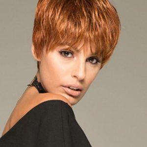Tiffany | Blonde Synthetic Brunette Gray Short Women's Black Wigs - wigglytuff.net