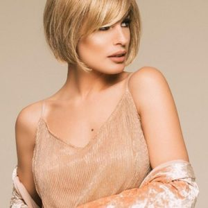 Vista | Blonde Synthetic Rooted Short Brunette Wigs - wigglytuff.net