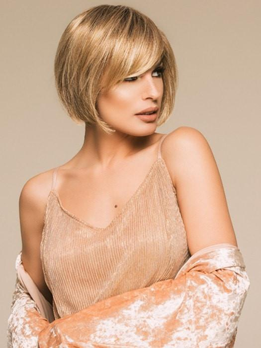 Vista | Blonde Synthetic Rooted Short Brunette Wigs - wigglytuff.net