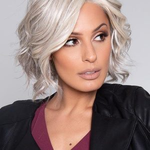 Wish | Black Monofilament Straight Red Human Hair Lace Front Blonde Gray Wigs - wigglytuff.net