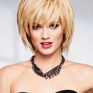 Applause   Black Human Hair Short Straight Blonde Red Women's Wigs - wigglytuff.net