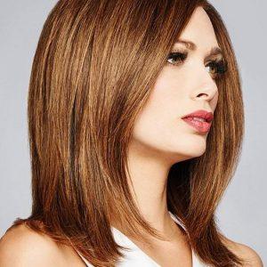 Bravo | Black Women's Long Human Hair Lace Front Monofilament Straight Layered Wigs - wigglytuff.net